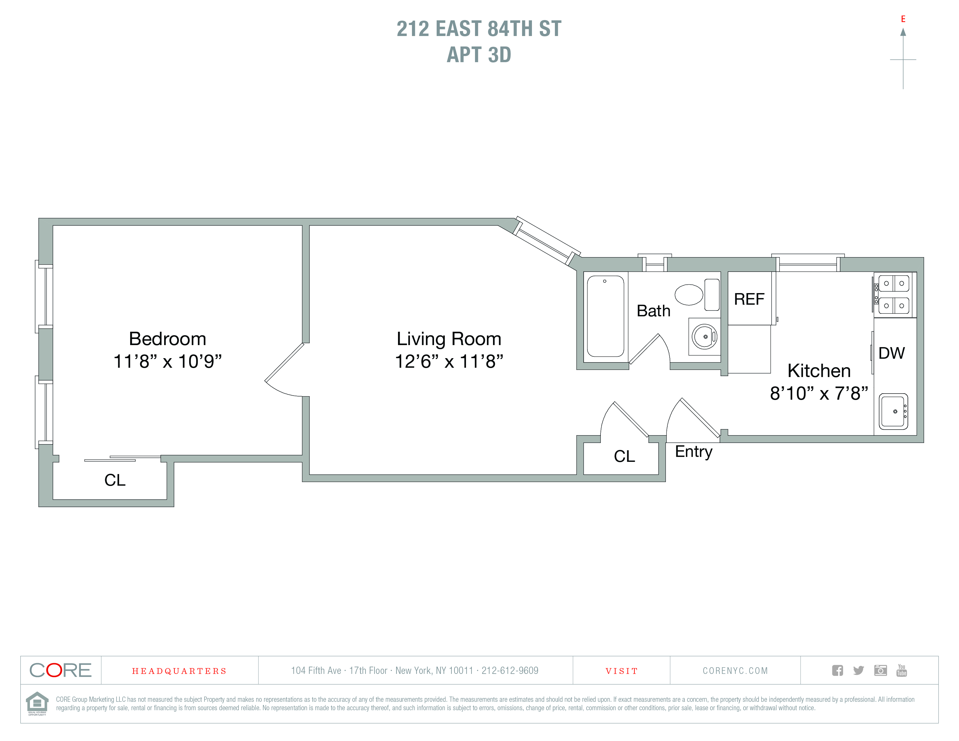 212 East 84th St. 3D, New York, NY 10028