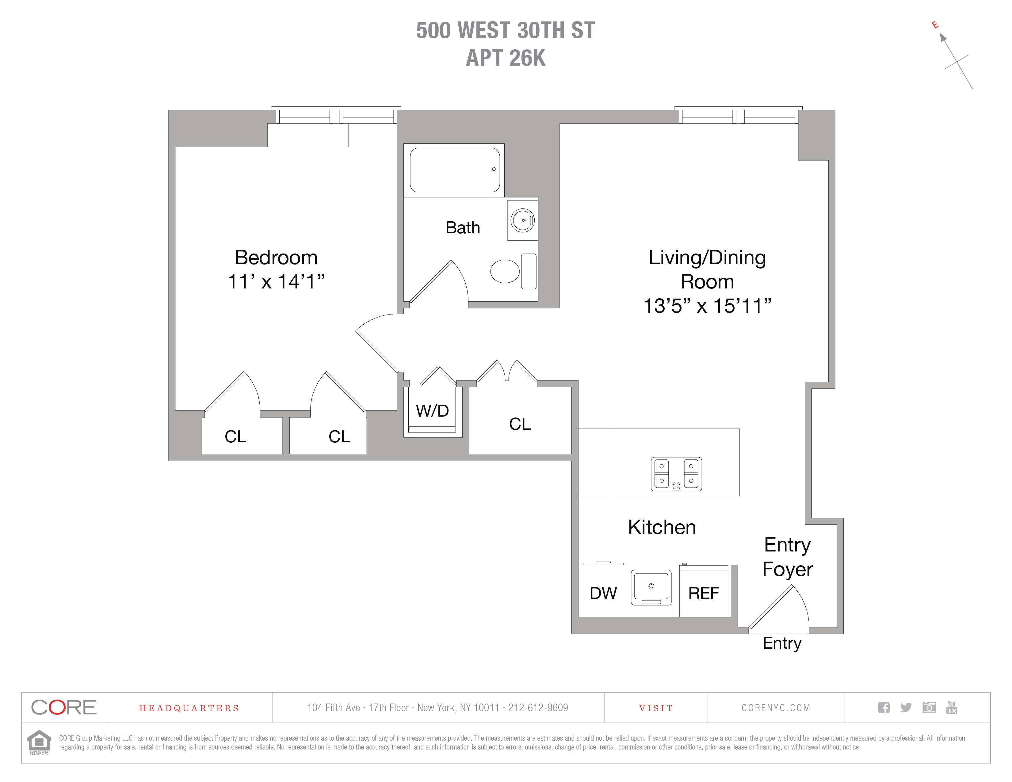 500 West 30th St. 26K, New York, NY 10001