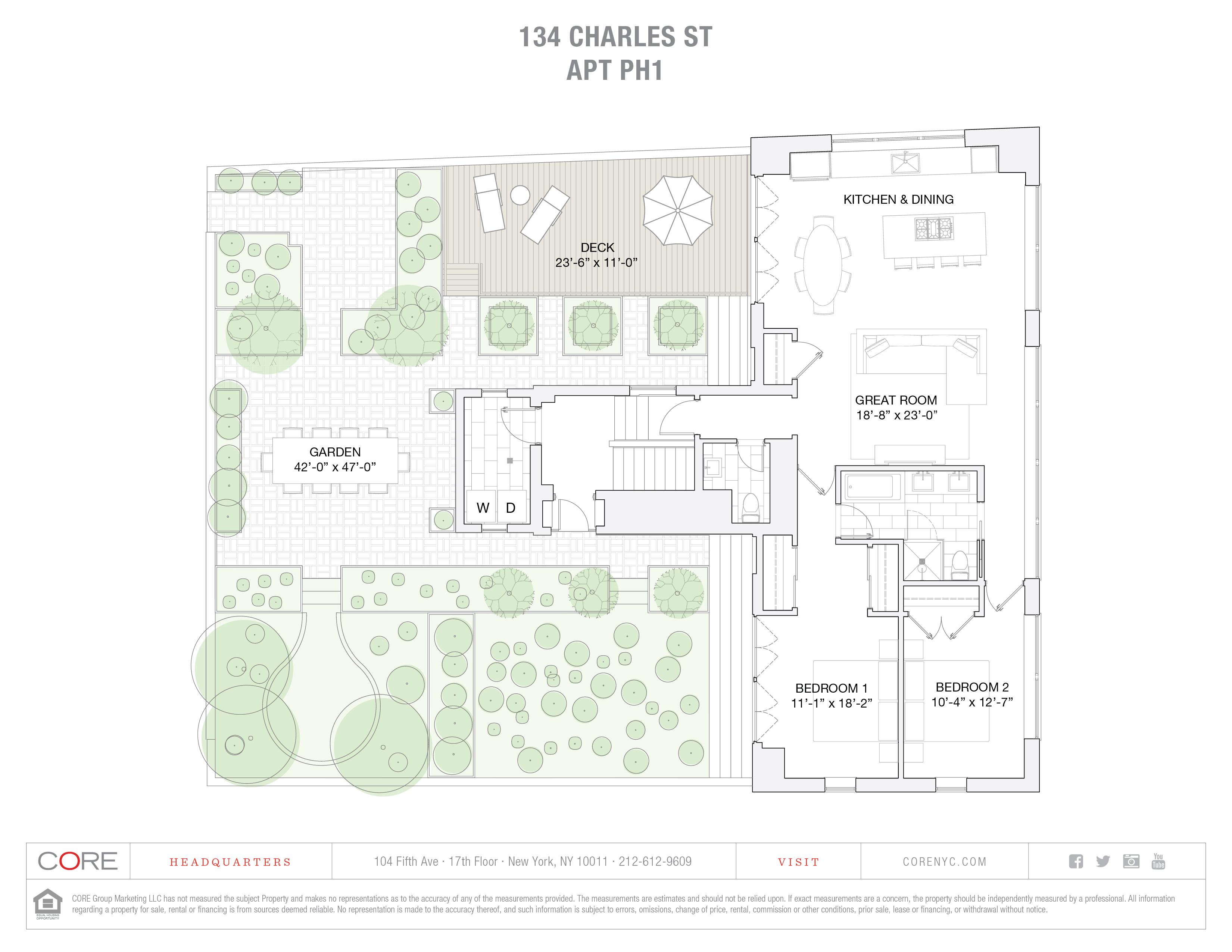 134 Charles St. PH1, New York, NY 10014