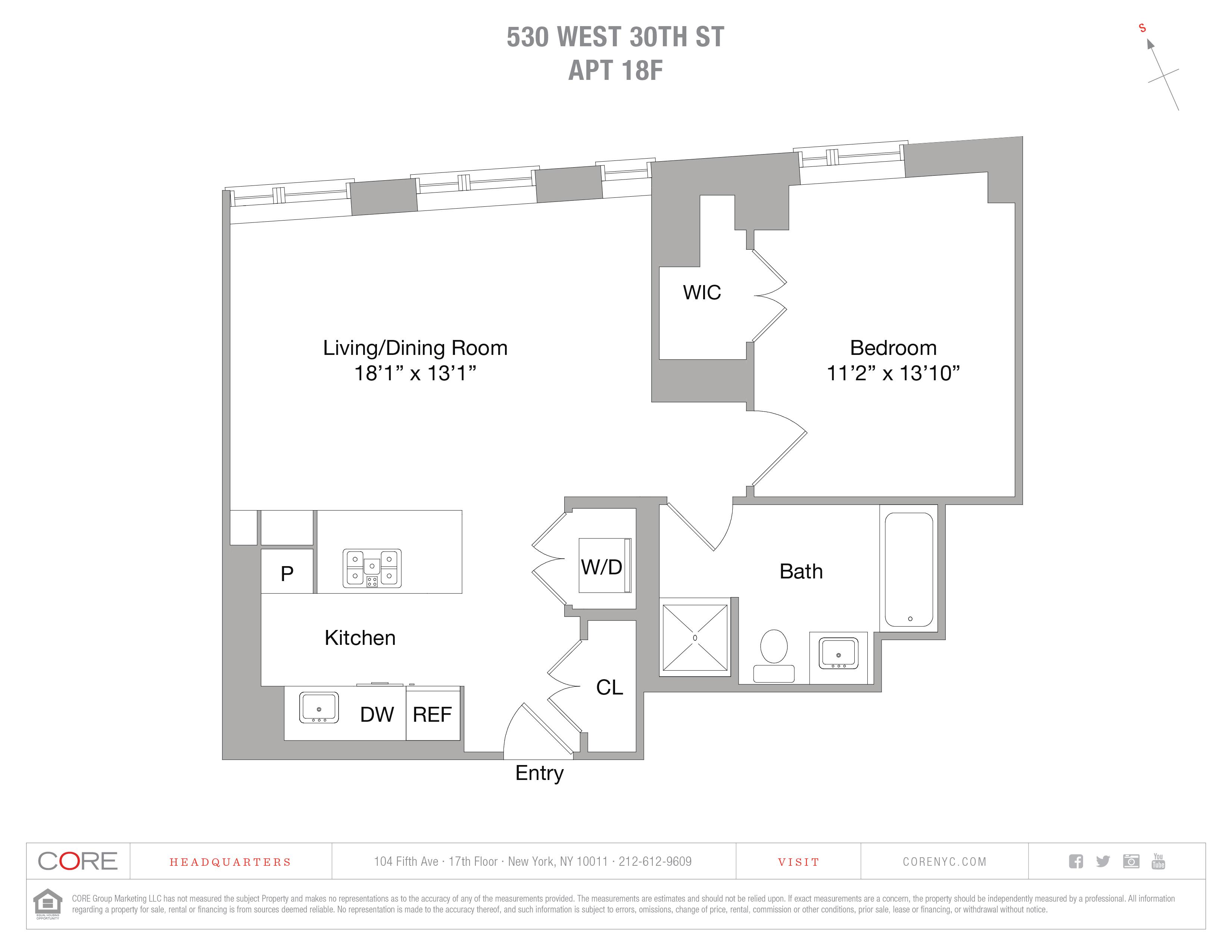 530 West 30th St. 18F, New York, NY 10001