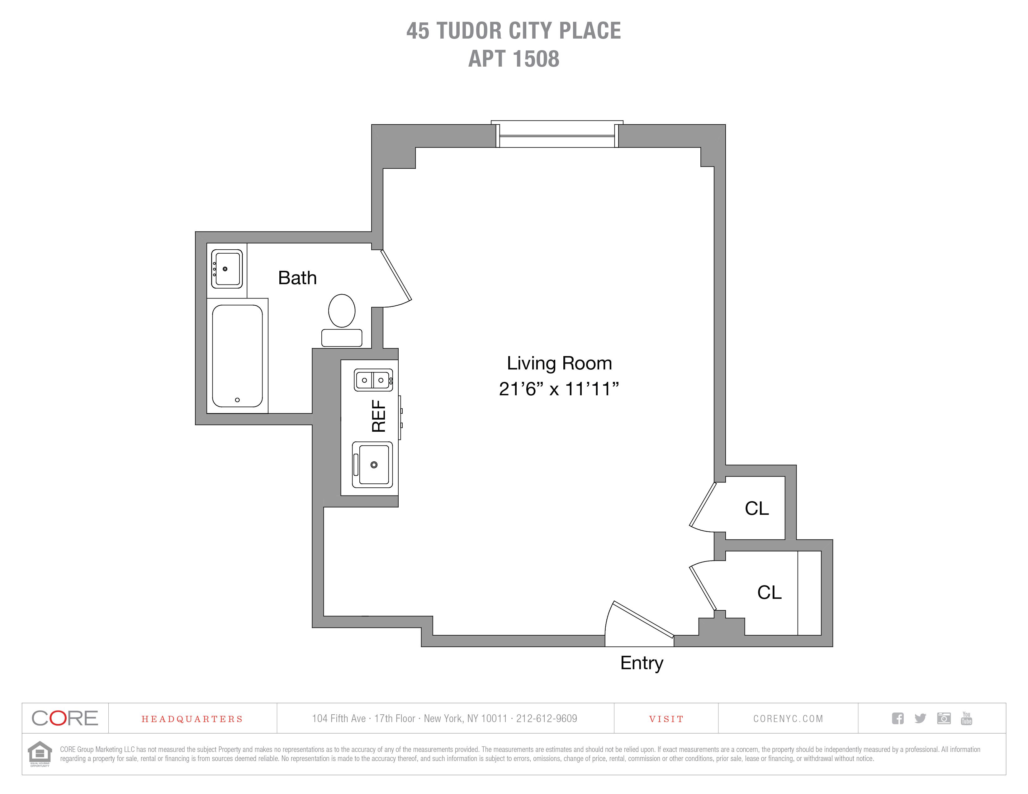 45 Tudor City Place 1508, New York, NY 10017