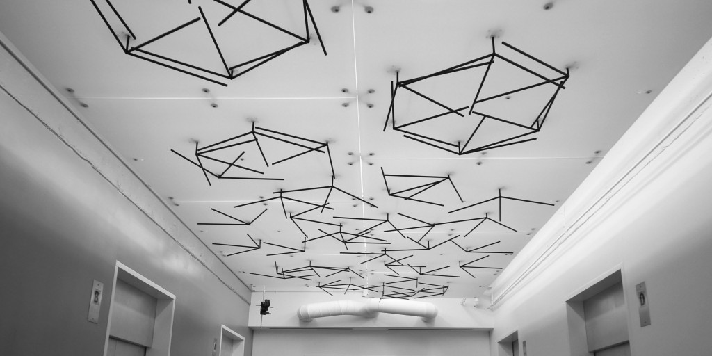 SF interactive kinetic ceiling sculpture