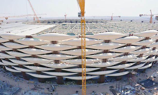 Basrah Main Stadium under construction. Photo courtesy of Josef Hadi/Skyscraper City
