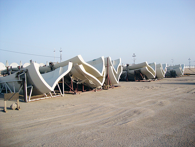 May 2011: All panels of this size are completed and shipped to the Basrah project site.