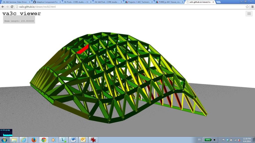 Grasshopper model in the web