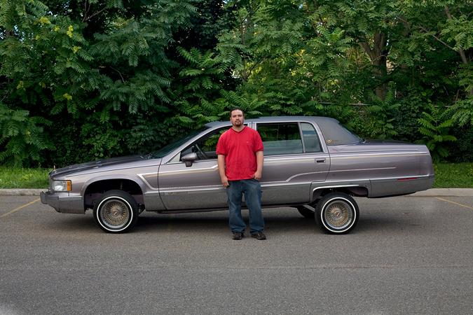 Rick and his '93 Fleetwood Cadillac, 2008