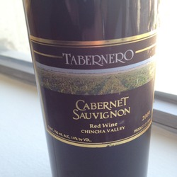 Tabernero Cabernet Sauvignon Peru Wine