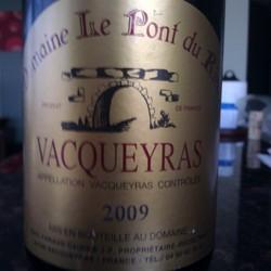 Domaine Le Pont du Rieu Vacqueyras France Wine