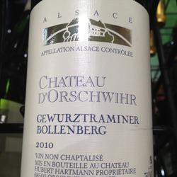 Château d'Orschwihr Gewürztraminer Bollenberg France Wine