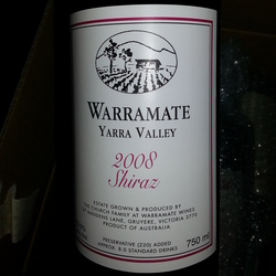 Warramate Shiraz Australia Wine