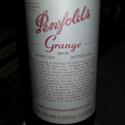Penfolds Bin 95 Grange Shiraz Australia Wine
