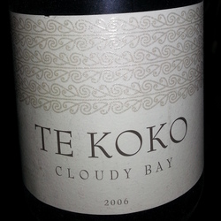 Cloudy Bay Te Koko Sauvignon Blanc New Zealand Wine
