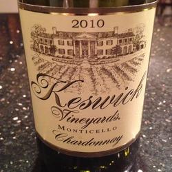 Keswick Monticello Chardonnay  Wine