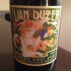 Van Duzer Estate Pinot Noir  Wine