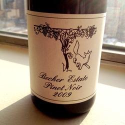 Becker Estate Pinot Noir  Wine