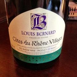Louis Bernard Côtes du Rhône Villages  Wine