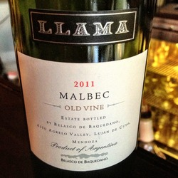 Llama Old Vine Malbec  Wine