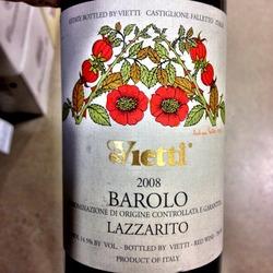 Vietti Barolo Lazzarito  Wine