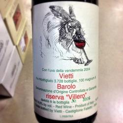 """Vietti Barolo Riserva """"Villero""""  Wine"""
