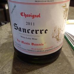 """Chavignol Sancerre """"Les Monts Damnés""""  Wine"""