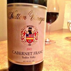 Hutton Vineyards Cabernet Franc  Wine