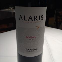 Bodegas Trapiche Alaris Malbec  Wine
