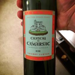 Château de Camarsac Bordeaux Supérieur  Wine