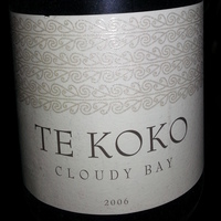 Cloudy Bay Te Koko Sauvignon Blanc 2006, New Zealand