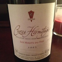 Crozes-Hermitage Les Hauts de Fief 2003,