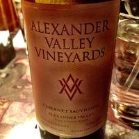 Alexander Vineyards Cabernet Sauvignon 2011,