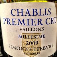 Chablis Premier Cru Vaillons Millésime 2009,