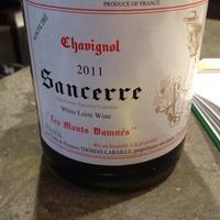 """Chavignol Sancerre """"Les Monts Damnés"""" 2011,"""