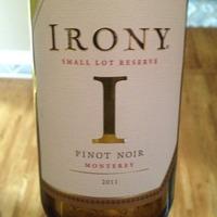 Irony 'Small Lot Reserve' Pinot Noir 2011,