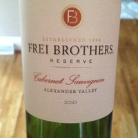 Frei Brothers Reserve Cabernet Sauvignon 2010,
