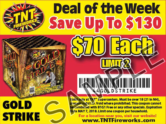 picture regarding Tnt Fireworks Coupons Printable named Strikes discount coupons : Pompano coach station