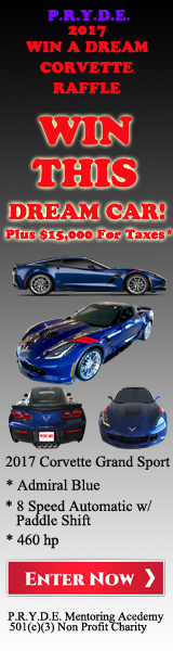 P r y d e win a dream corvette raffle