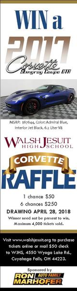 Walsh jesuit high school corvette raffle