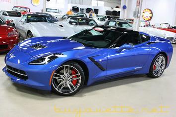 2016 2016 corvette stingray z51 2lt for sale stock 16 113150 laguna blue exterior jet black interior glass top