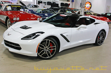 2015 corvette stingray z51 3lt for sale stock 15 124855 arctic white exterior adrenaline red interior