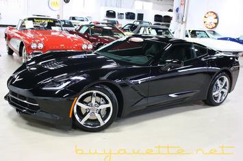 2014 corvette stingray 3lt for sale stock 14 106033 black exterior jet black interior 460hp lt1 engine 7 speed manual transmission posi rear end