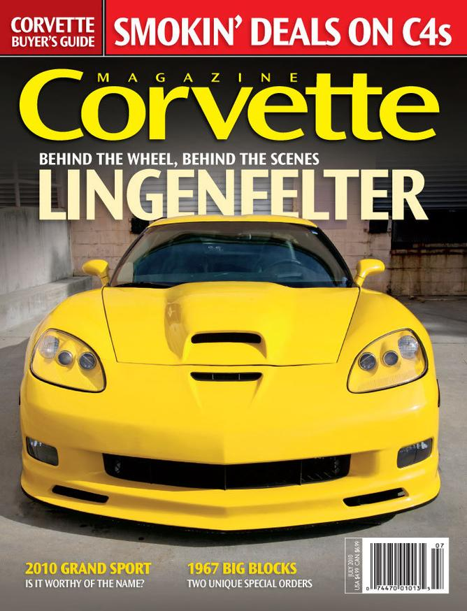 Corvette magazine 58 cover