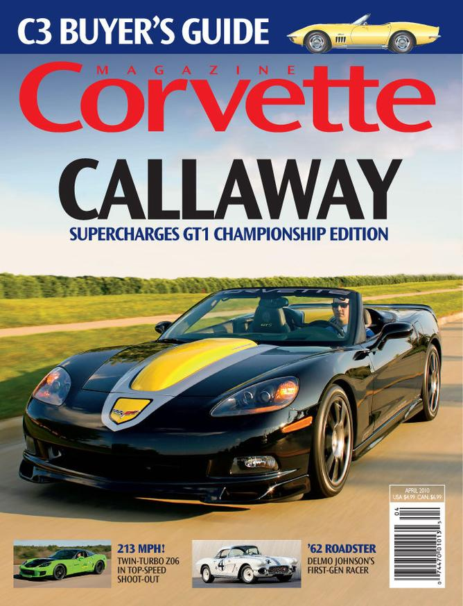 Corvette magazine 56 cover