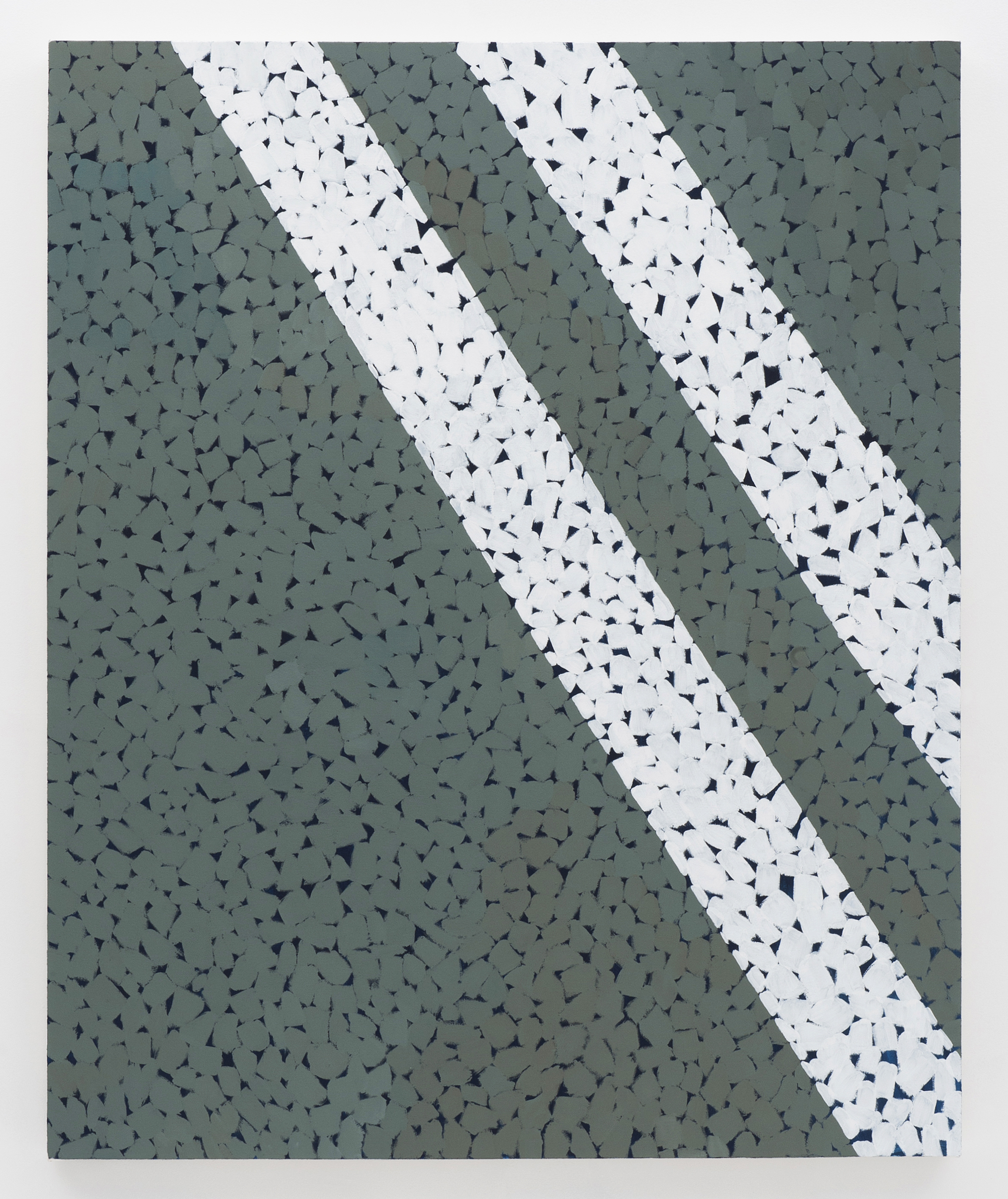 Corydon Cowansage, Asphalt 3, 2015, acrylic on canvas, 50 x 40 inches
