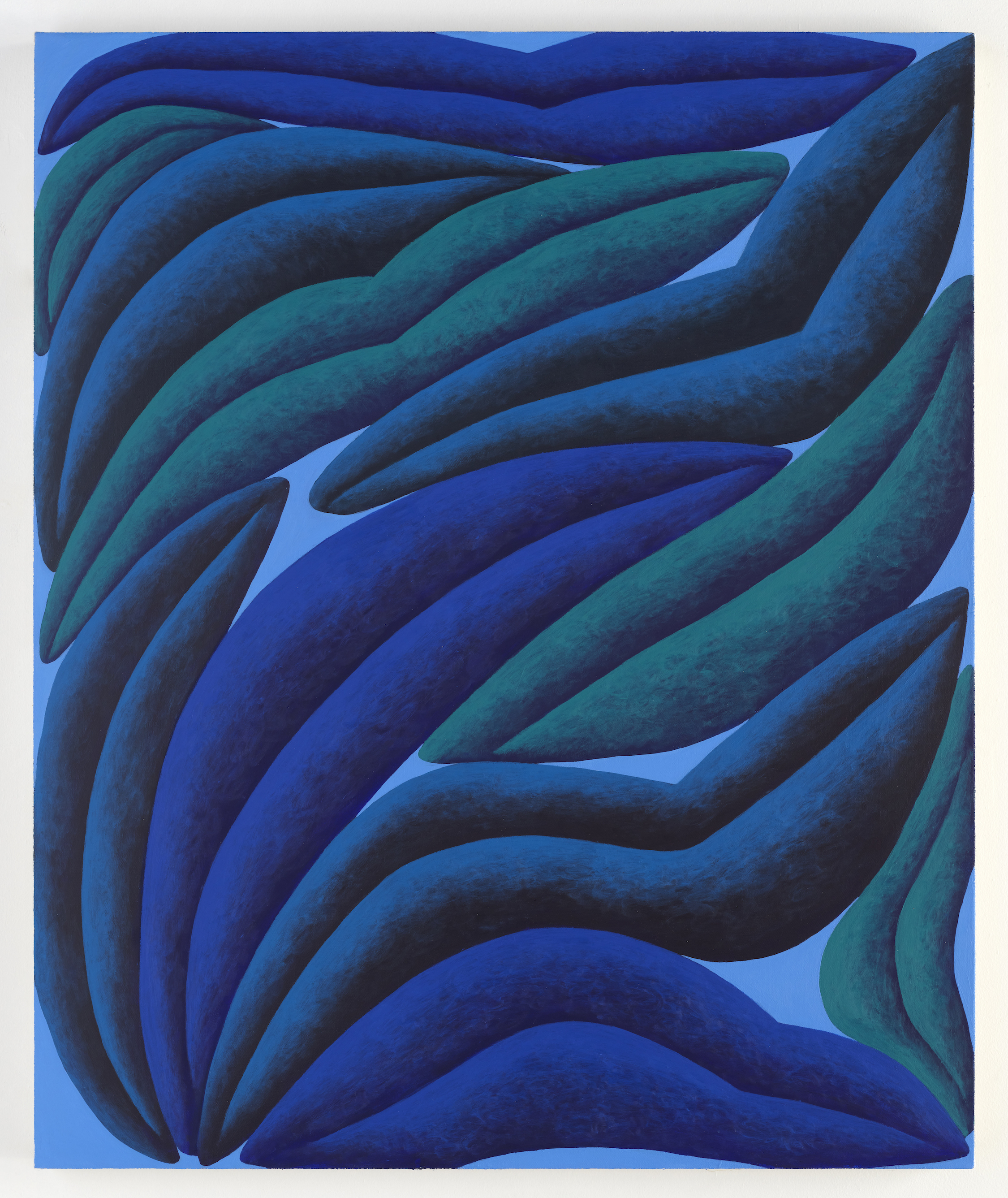 Corydon Cowansage, Blues, 2020, acrylic on canvas, 37 × 31 inches
