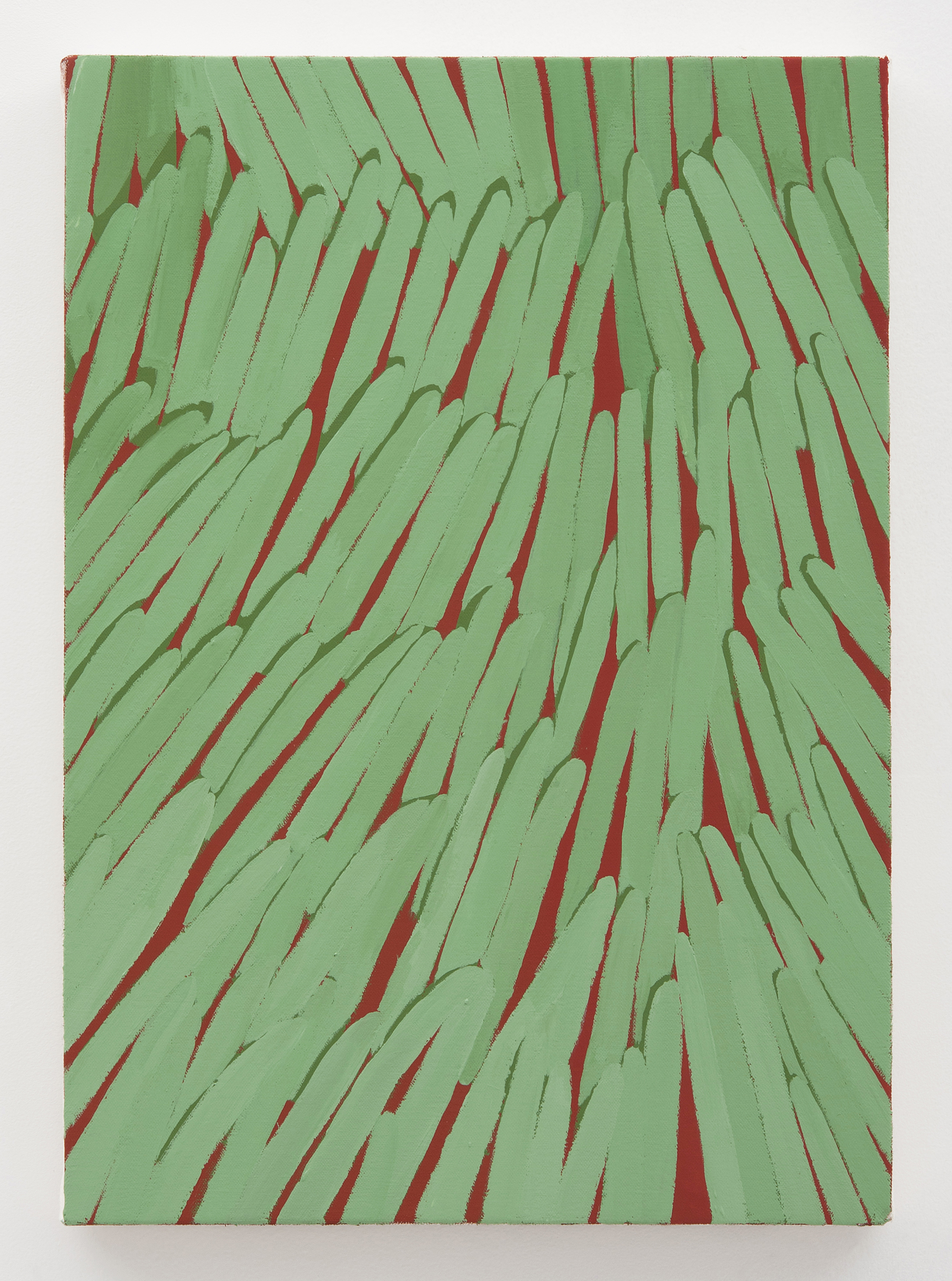 Corydon Cowansage, Grass 42, 2015, acrylic on canvas, 20 x 14 inches
