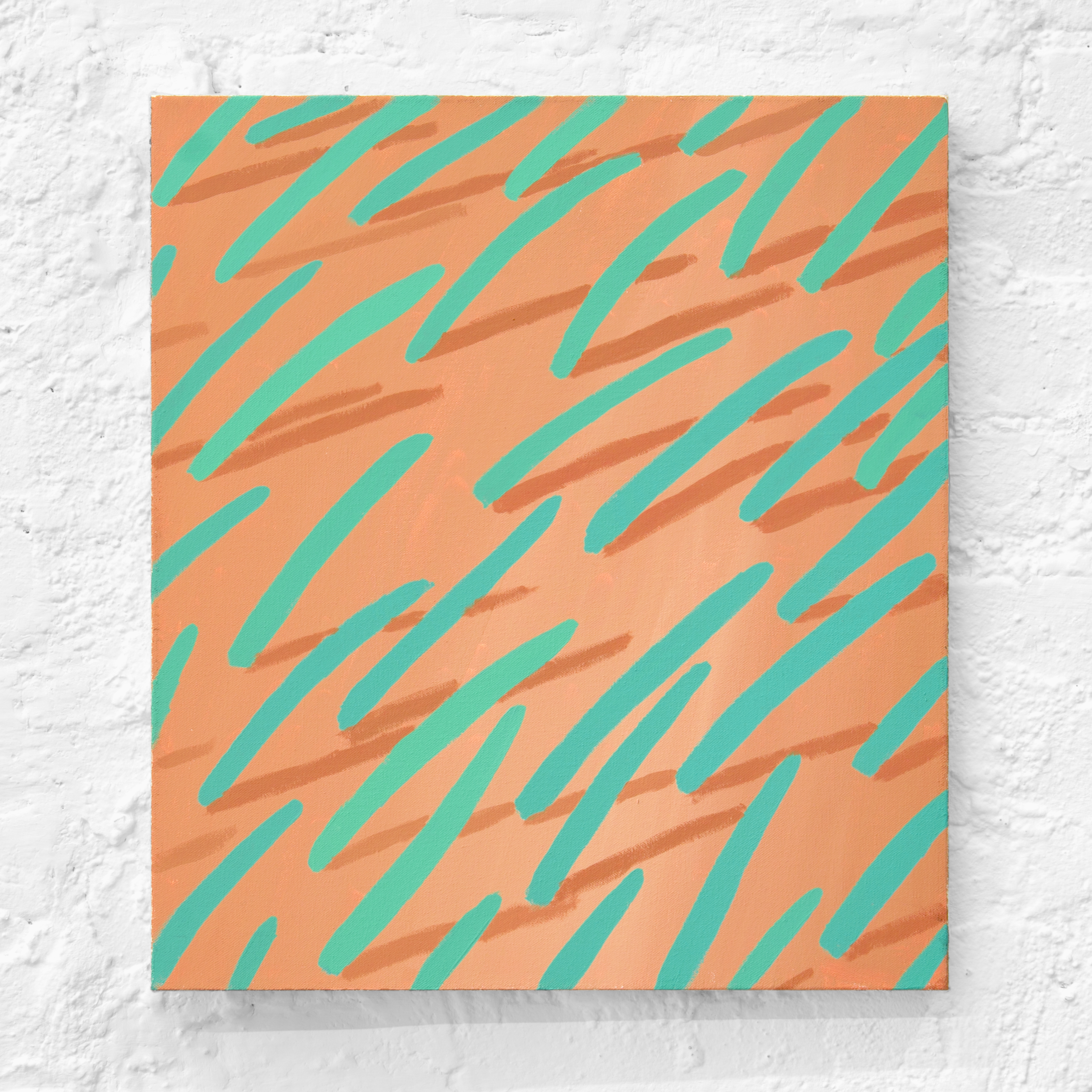 Corydon Cowansage, Grass 59, 2016, acrylic on canvas, 18 x 16 inches. Photo credit: Kirsten Kilponen. Courtesy 17 Essex, New York