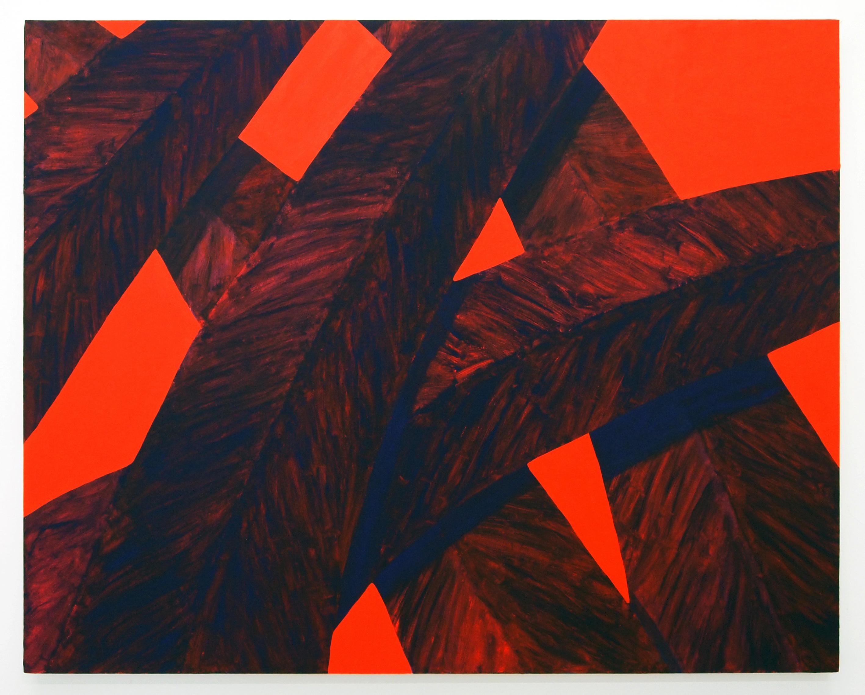 Corydon Cowansage, Grass 75, 2017, acrylic on canvas, 40 x 50 inches
