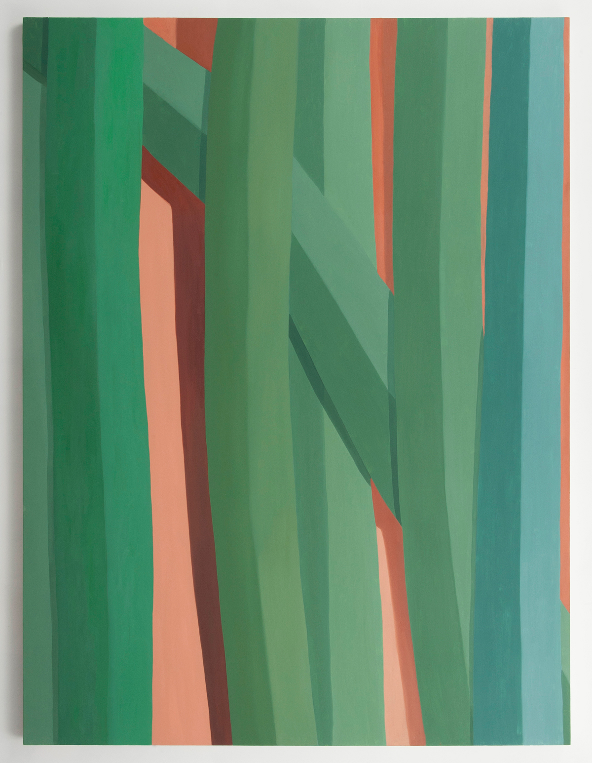Corydon Cowansage, Grass 9, 2014, oil on canvas, 96 x 72 inches