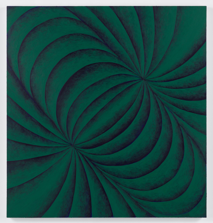 Corydon Cowansage, Green, 2021, acrylic on canvas, 40 x 38 inches