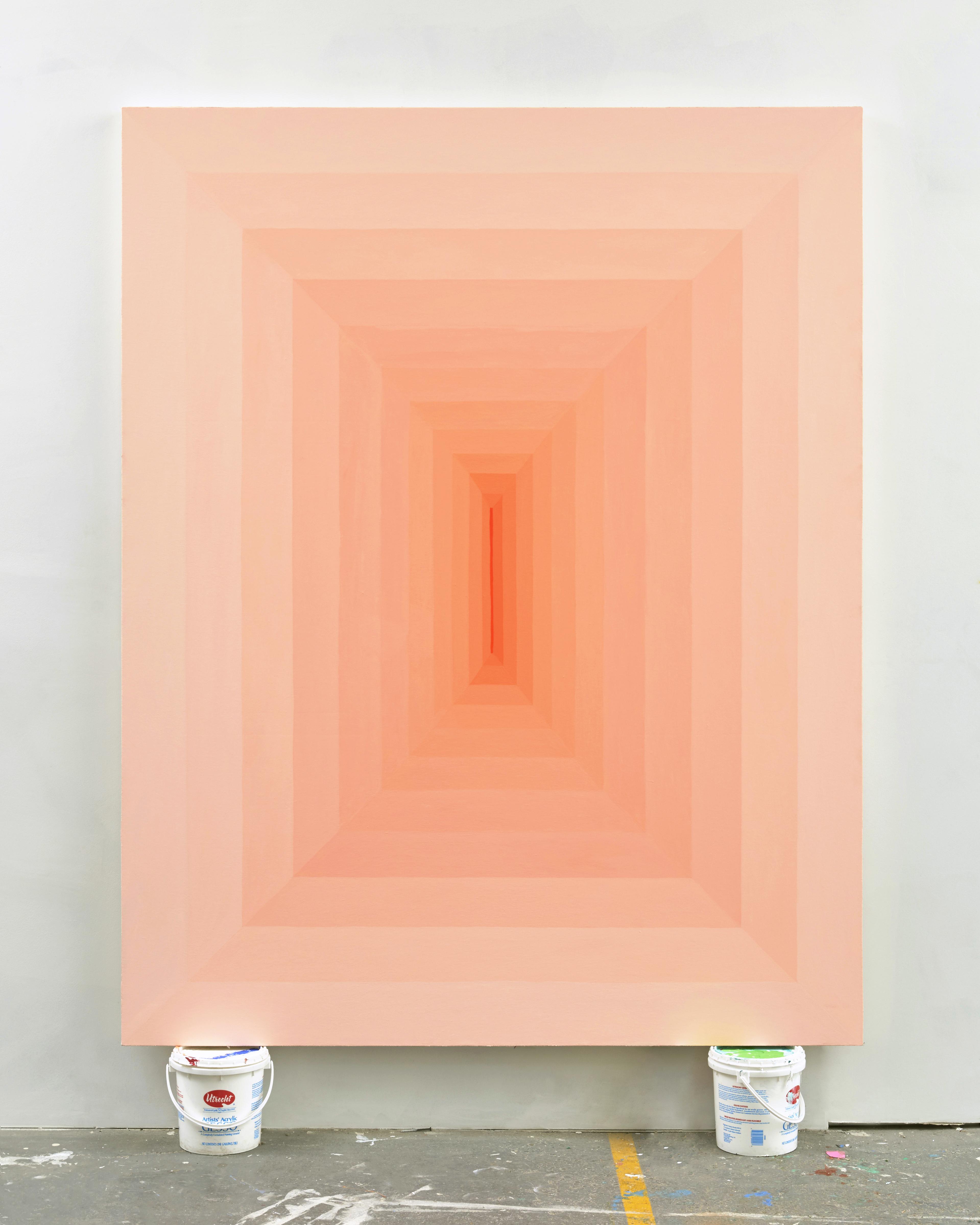Corydon Cowansage, Hole 15, 2017, acrylic on canvas, 75 x 59 inches